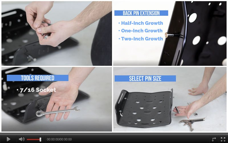 Extension Pins Wheelchair Accessories
